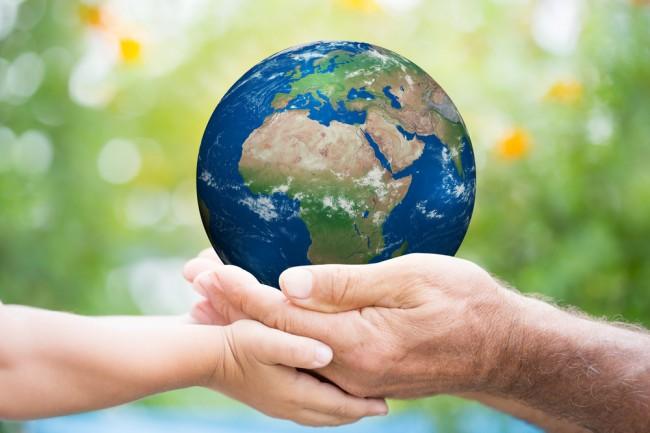 cradling earth